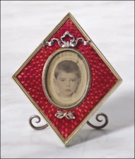 Enameled Frame by Viktor Aarne from Descendants of Grand Duchess Xenia Alexandrovna (Christie's New York)