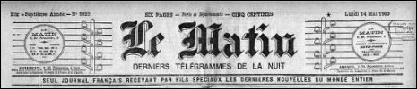 Le Matin, Monday May 14, 1900