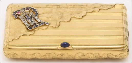 Cigarette Case with Campbell Family Crest (Courtesy Sotheby's)
