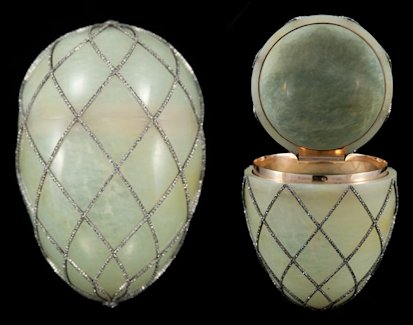 1892 Diamond Trellis Egg (Courtesy McFerrin Collection, Houston, Texas)