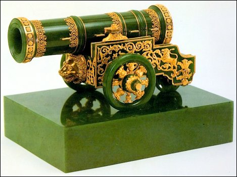 Miniature Replica of Peter the Great's Puska Cannon (Original in the Hermitage, St. Petersburg)