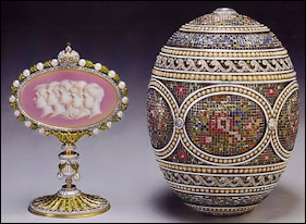 1914 Mosaic Egg (AF) Most Expensive Egg Made by Fabergé (Courtesy Artnet)