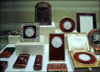 Fabergé Museum Showcases (Courtesy of Riana Benko)