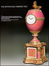 1902 Rothschild Egg Clock Sold for £9 Million ($18.5 Million), Fabergé Egg Sale Record. (Christie's London, November 28, 2007)