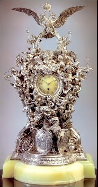 Alexander III 25th Wedding Anniversary Clock Sold for $1,652,500 (Christie's New York, April 18, 1996)
