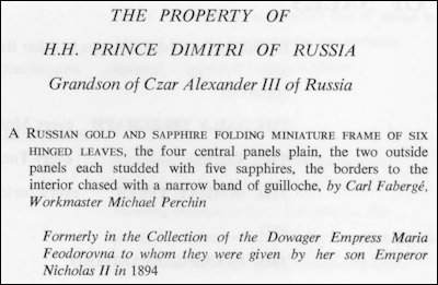 The property of HH Prince Dimitri of Russia