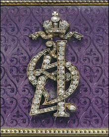 Empress Alexandra Feodorovna's Monogram (Courtesy Sotheby's New York)