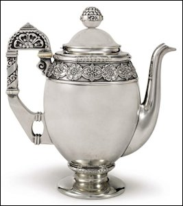 Fabergé Silver Coffee Pot, Moscow, 1908-1917, Inventory Number 42249