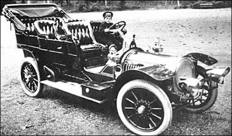 Tsesarevich Alexei in a French 1909 Delaunay-Belleville, Nicholas II's Favorite Car (Illustration 1-3, Wiki)