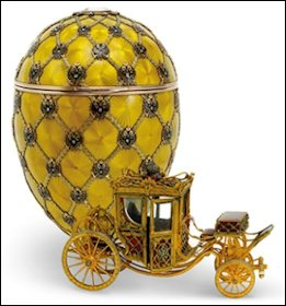 1897 Coronation Egg (Courtesy Fabergé Museum, St. Petersburg)