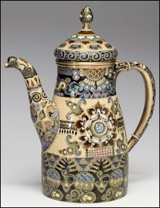 Coffeepot from a Three-piece Set, Fedor Rückert Workshop Marked Fabergé (Courtesy Walters Art Museum)