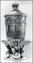 Fabergé Trotting Horse Breeding Trophy Presented in ca. 1989 by Attorney and Collector Pierre Sciclounoff to Juan Antonio Samaranch, President of the IOC from 1980-2001 (Photographs ©IOC/Michèle Verdier)