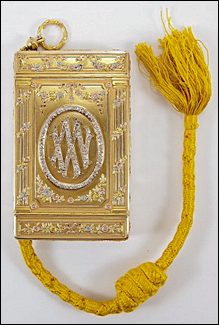 "Fabergé Cigarette Case with ""XXV"" for the Vladimirs 25th Wedding Anniversary, When Turned 180 Degrees Their Initials ""W"" and ""M"" Appear. (Courtesy McFerrin Collection)"