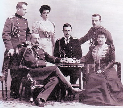Grand Duke Vladimir Alexandrovich and His Family in 1899 (Courtesy Liki Rossii, St. Petersburg)