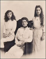 Grand Duchess Marie Georgievna with Daughters Xenia and Nina (Courtesy Alexander Palace Time Machine)