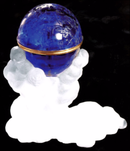 Unfinished Blue Tsesarevich Constellation Egg (Courtesy Fersman Mineralogical Museum, Moscow)