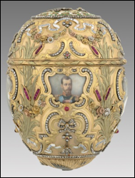 1903 Peter the Great Egg by Fabergé (Virginia Museum of Fine Arts, Bequest of Lillian Pratt, Photo: Katherine Wetzel © Virginia Museum of Fine Arts)
