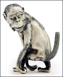 Chimpanzee Table Lighter, Stock Number 14569, $334,992, Provenance: Princess Maria Gabriella of Savoy
