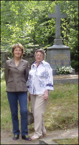 Ulla Tillander-Godenhielm and Tatiana Cheboksarova at the Gravesite of Count Freedericksz in Grankulla, Finland. The Later Title of Count Was Bestowed in 1913. (Photographs by Galina Korneva)