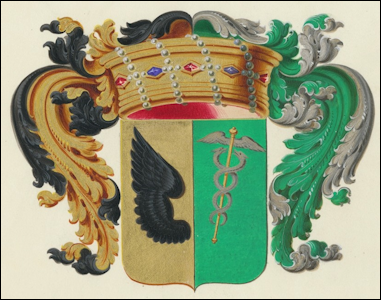 Coat of Arms of Baron Vladimir Borisovich Freedericksz (1838-1927) (Wiki)