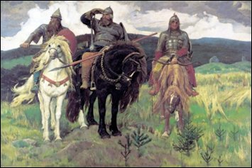The Three Bogatyrs by Viktor Vasnetsov (Courtesy Tretyakov State Gallery, Moscow)
