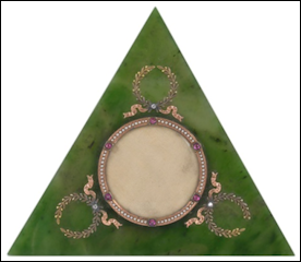 Fabergé Nephrite Photograph Frame Discovered at Valuation Day, ca. $24,000 (Courtesy Catherine Southon Auctioneers & Valuers Ltd)