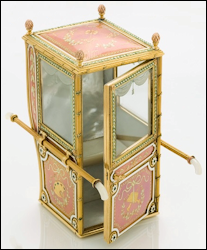 Fabergé Sedan Chair by Mikhail Perkhin (Private Collection, Courtesy The Museum of Russian of Art, USA)