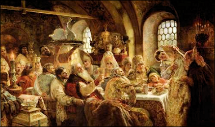(B) Oil Painting, The Boyar Wedding Feast