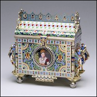 Casket in the Form of an Izba, a Traditional Russian Country Dwelling by Pavel Ovchinnikov, Moscow, 1876 (Courtesy Walters Art Museum, Baltimore, Maryland)