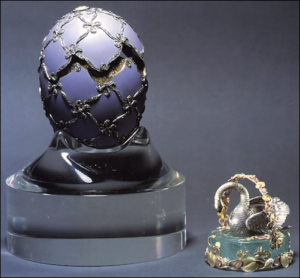 (Lowes and McCanless, Fabergé Eggs: A Retrospective Encyclopedia, 2001, Cover)