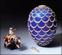 1900 Kelch Pine Cone Egg (Fabergé, Tatiana, et al. The Fabergé Imperial Easter Eggs, 1997, 73)