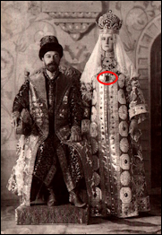 Nicholas II and Alexandra Feodorovna at the 1903 Boyar Ball (wiki)