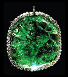 Emerald Pendant, 245 Carats (Courtesy Diamond Fund, Kremlin)