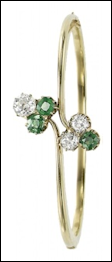 Gold, Diamond and Demantoid Bangle (Courtesy Christie's Geneva)