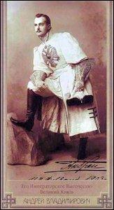 Grand Duke Andrei Vladimirovich, 1903 (Courtesy Wikipedia)