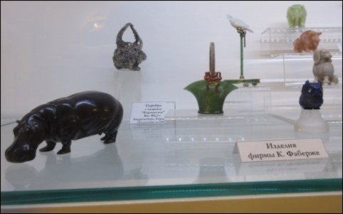 Fabergé Objects in the Mining Museum (Courtesy Cynthia Coleman Sparke)