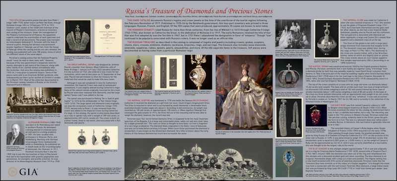 GIA unveiled a poster (8 ft x 4 ft) at the October Geological Society of America (GSA) Annual Meeting to announce the digitized Fersman Portfolio.