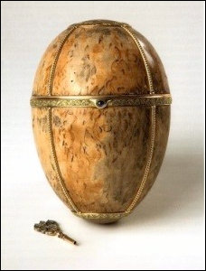 """Finished"" Karelian Birch Egg (Exhibition: The Art of Fabergé at the Kostroma State Historical, Architectural & Arts Museum Reserve, 2010, p. 22-23)"