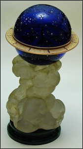 "H. 1917 ""Finished"" Blue Tsesarevich Constellation Egg (Fabergé Museum in Baden-Baden, Germany)"
