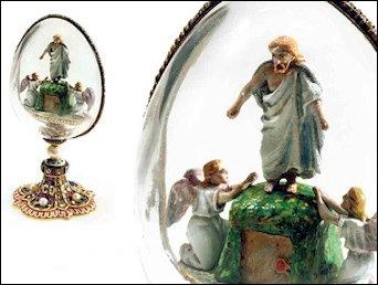 A. 1885-1889 Resurrection Egg (Courtesy Fabergé Museum, St. Petersburg, Russia)