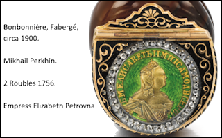 Gold and Silver Coins used in Faberge Objects
