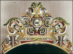 View of the Decorated Red Gold Handles from the Top and the Underside