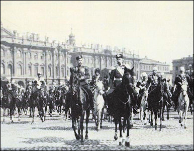 Emperors Nicholas II and Franz Joseph on Review