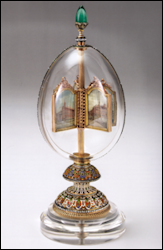 Egg with Revolving Miniatures