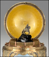 Miniature of Falconet Statue of Peter the Great in the 1903 Peter the Great Egg