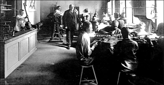 Workmaster Viktor Aarne in His Finnish Studio after 1904